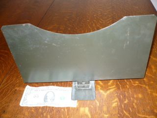 Antique File Cabinet Green Metal Divider Part 13 - 1/4