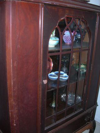 Antique Vintage Curio China Cabinet photo
