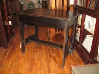 Charles Rohlfs Library Table/drawer Mission Arts&crafts photo