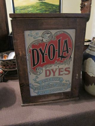 Vintage Dyola Dyes Cabinet & Contents (19 Dyes) photo