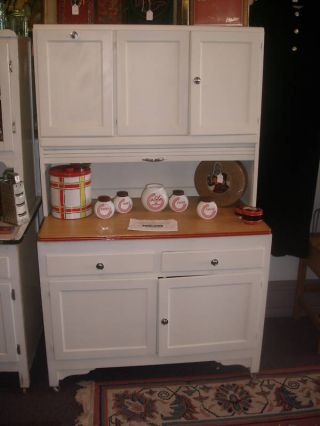 Vintage Kitchen Cabinet Cupboard Flour Sifter Roll Down photo