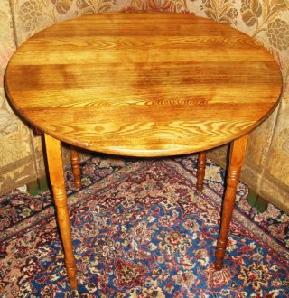 Antique Round Folding Sewing Card Serving Table 4 Legs photo