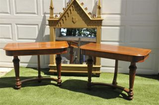 French Console Tables Matching Pair Also Provides Use As A Writing Desk photo