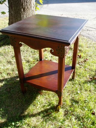 Wonderful Rustic Arts And Crafts Table With Fabulous Detail photo
