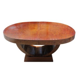French Art Deco Bur Amboyna Dining Table,  Circa 1930 ' S photo