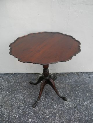 Mahogany Carved Round Side Table By Ferguson 2476 photo