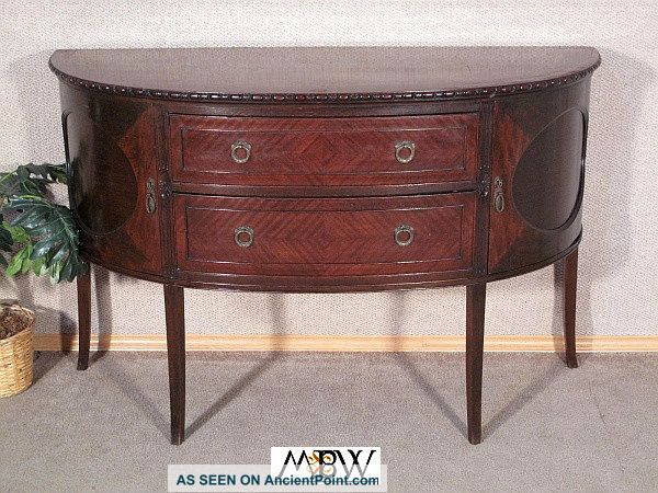 Antique English Mahogany Chippendale Buffet Sideboard Server C1920 N17