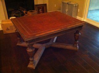Antique Wood Renaissance Mid 19th Century Partner ' S Desk Table photo