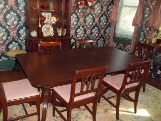 Vintage Mahogany Dining Room Set photo