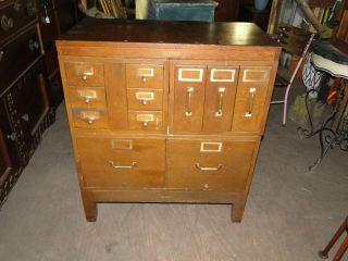 1938 Globe Wernieke Oak Filing Cabinet photo