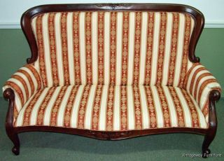 6061: Antique French Canape Sofa Settee Upholstery U0026 Carving Photo