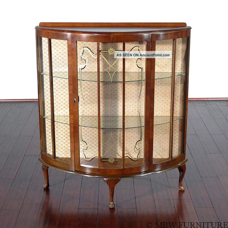 ... Curio Cabinet Curio Cabinets Queen Walnut Photo 1900 Vintage Anne  Vintage 1950 Display B34 ...
