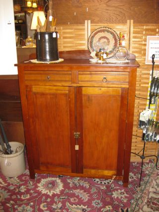 Antique Cherry Jelly Cabinet photo