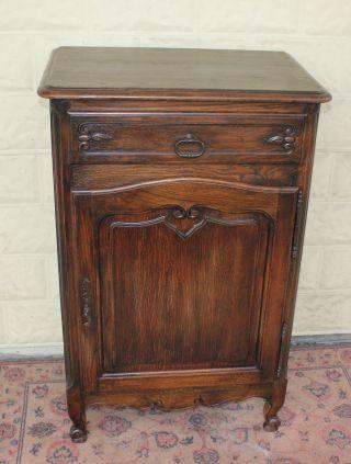 Dark Oak French Antique Louis Xv Cabinet photo