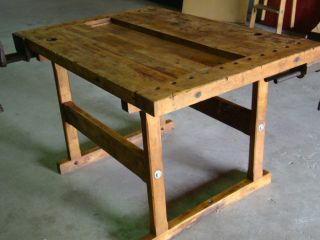 Usa - Primitive Work Table - Kitchen Island Table - - Price Reduction photo