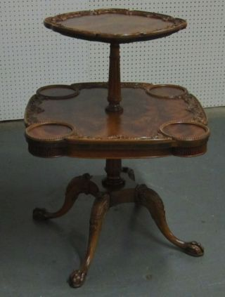 Antique Ball And Claw Lamp Table photo