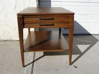 Danish Modern Formica Top Lamp End Table A photo
