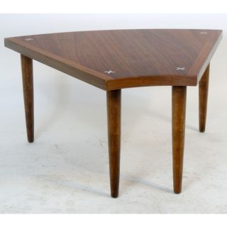 Vintage Danish Style Walnut Side End Low Table photo
