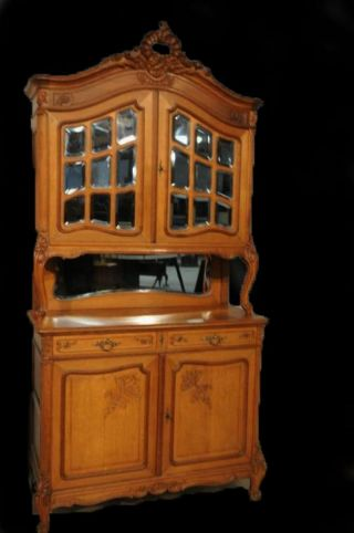 French Louis Xv Cabinet In Oak Circa 1920 photo