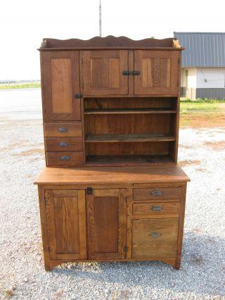 Oak Bakers Cabinet photo