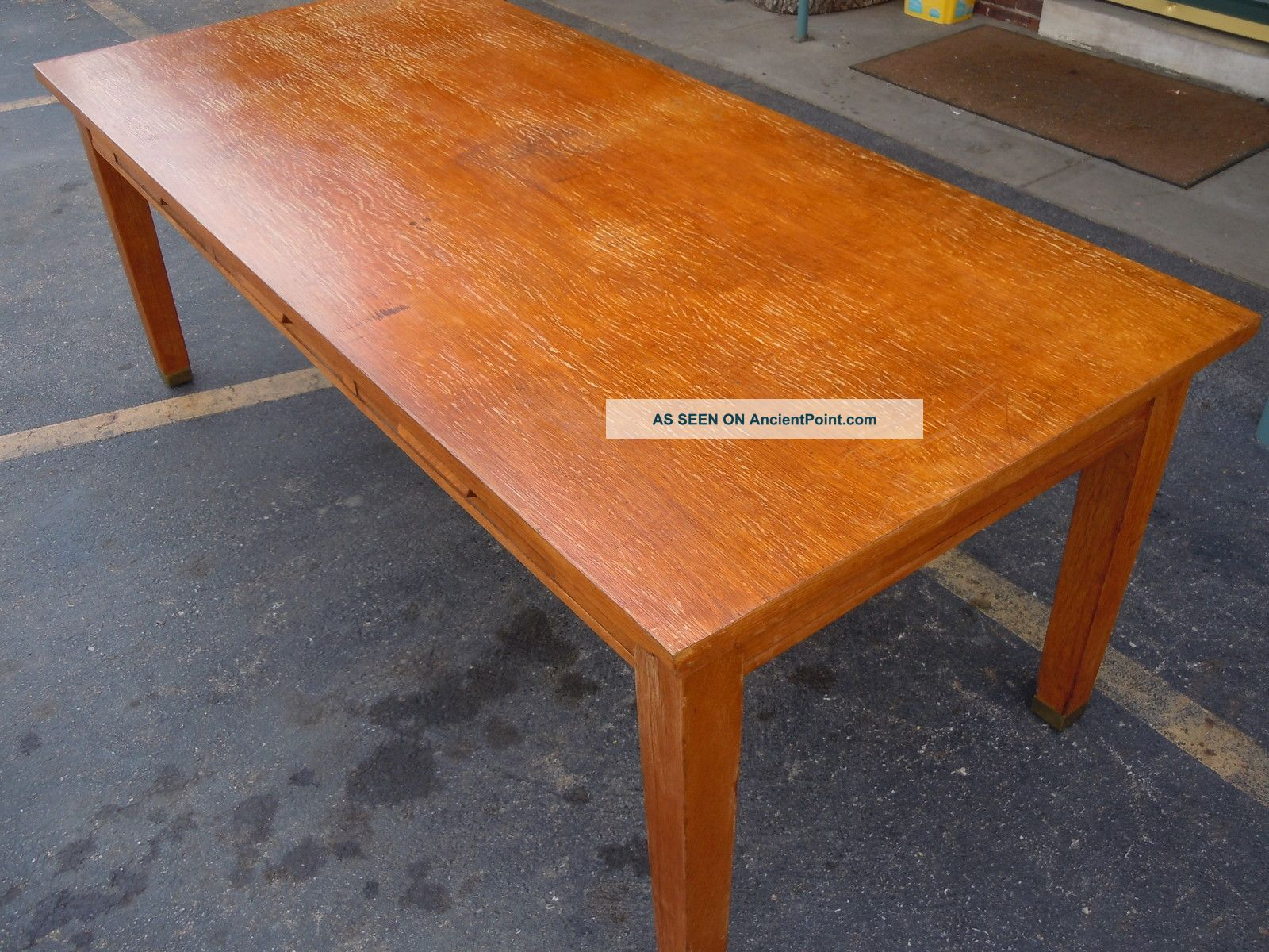 Antique Drafting Table Parts Old School Oak Library Table Large 3 Drawer 1920 ' S Desk Drawing 7 ...