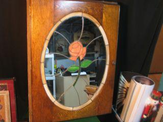 Vintage Recessed Wooden Medicine Cabinet photo