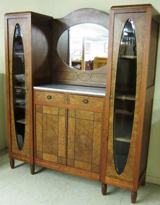 Circa 1925 Deco Cabinet/bookcase photo