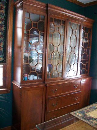 Antique Mahogany Breakfront,  Secretary,  Bookcase photo