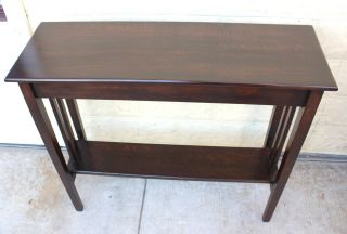 Lovely English Antique Mission,  Arts & Crafts Hall Table.  Made From Oak. photo