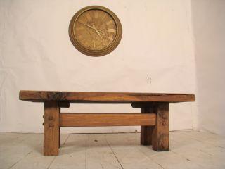 Vintage Contemporary Unique Bleached Oak Oblong Coffee Table photo
