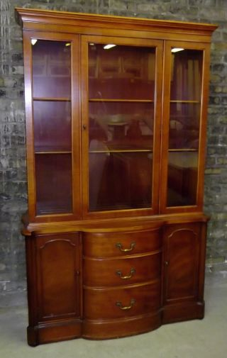 Antique Vintage C1950 Mahogany China Cabinet John M.  Smyth Chicago Exc Cond photo