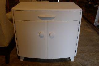 Mid Century Diminutive Server Heywood Wakefield New White Paint 32x18x30 Maple photo