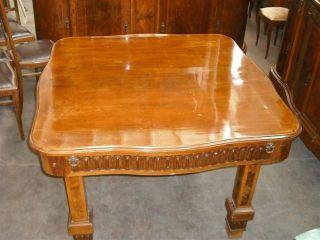 Antique Walnut Italian Designer Dining Room Table 11it040d photo