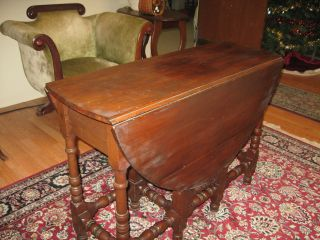 Mahogany Gate Leg Drop Leaf Table Dining Table @ $199 Flat Rate photo