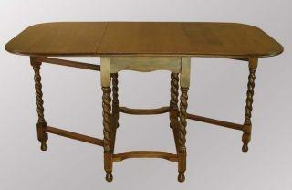 14905 Antique Drop - Leaf Gate Leg Rope Twist Table photo