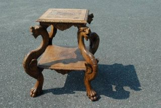 French Dragon Table Great Carved Detail photo