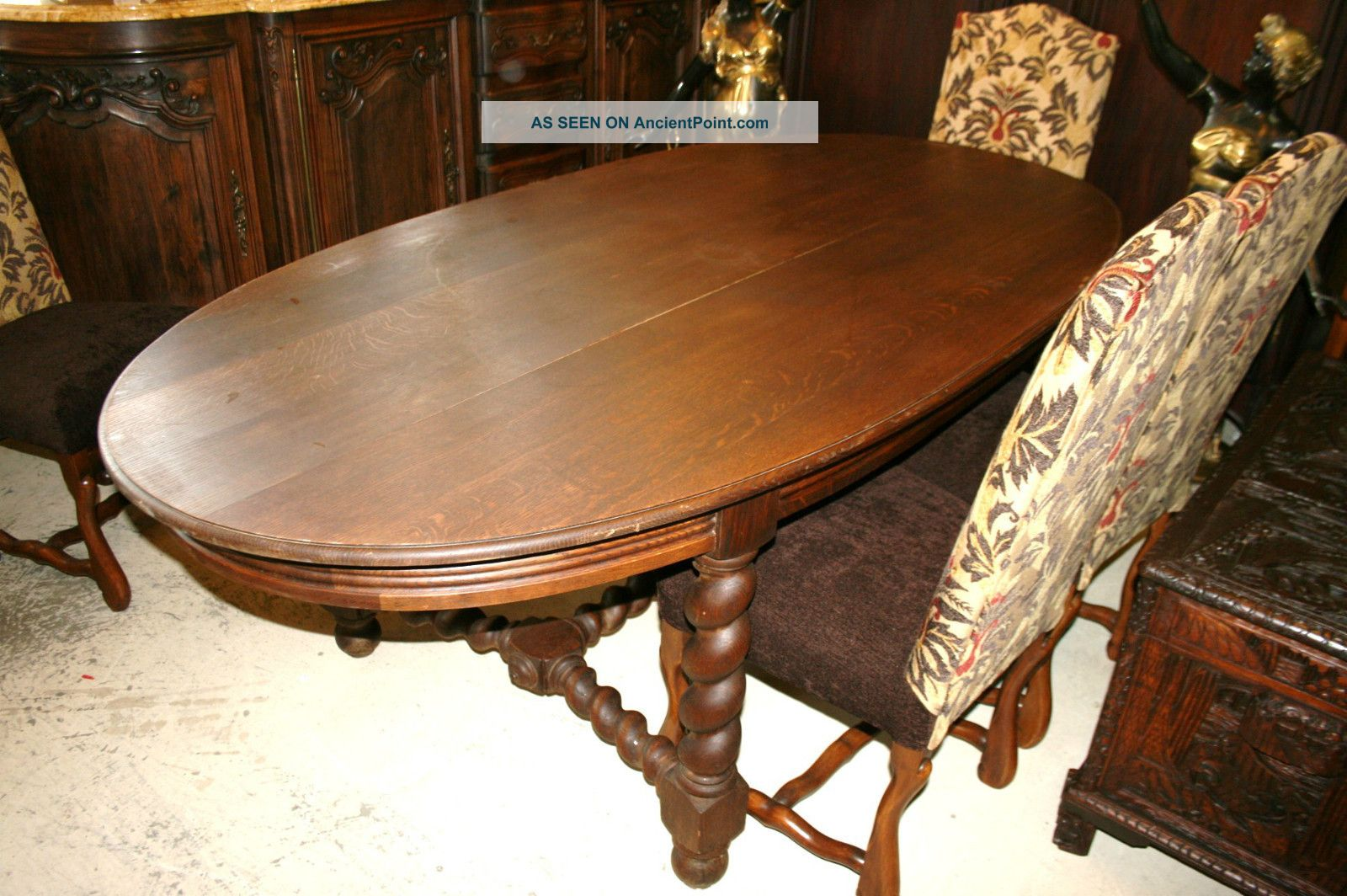 Dining Table Oak Dining Table Barley Twist