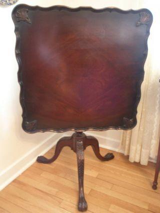 Antique Mahogany Tilt/pie Top Table photo