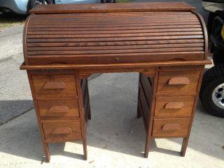 Antique Roll Top Desk photo