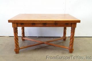 Gothic Oak French Refrectory Dining Room Table 08be044c photo