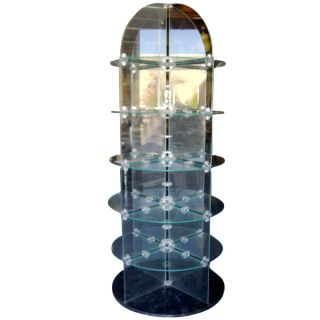 6ft Vintage Round Glass Display Unit Price Reduced photo