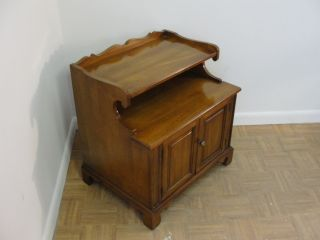 Solid Cherry Lamp End Table Night Stand photo