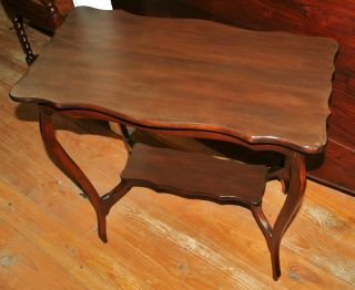 Luxurious English Antique Traditional Mahogany Side Table photo