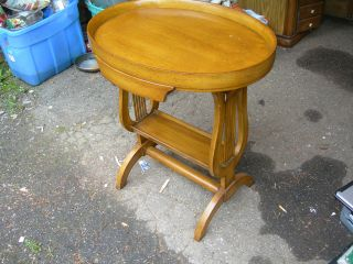 Antique Vintage Harp End Coffee Lamp Table Mahogany Federal Chippendale photo