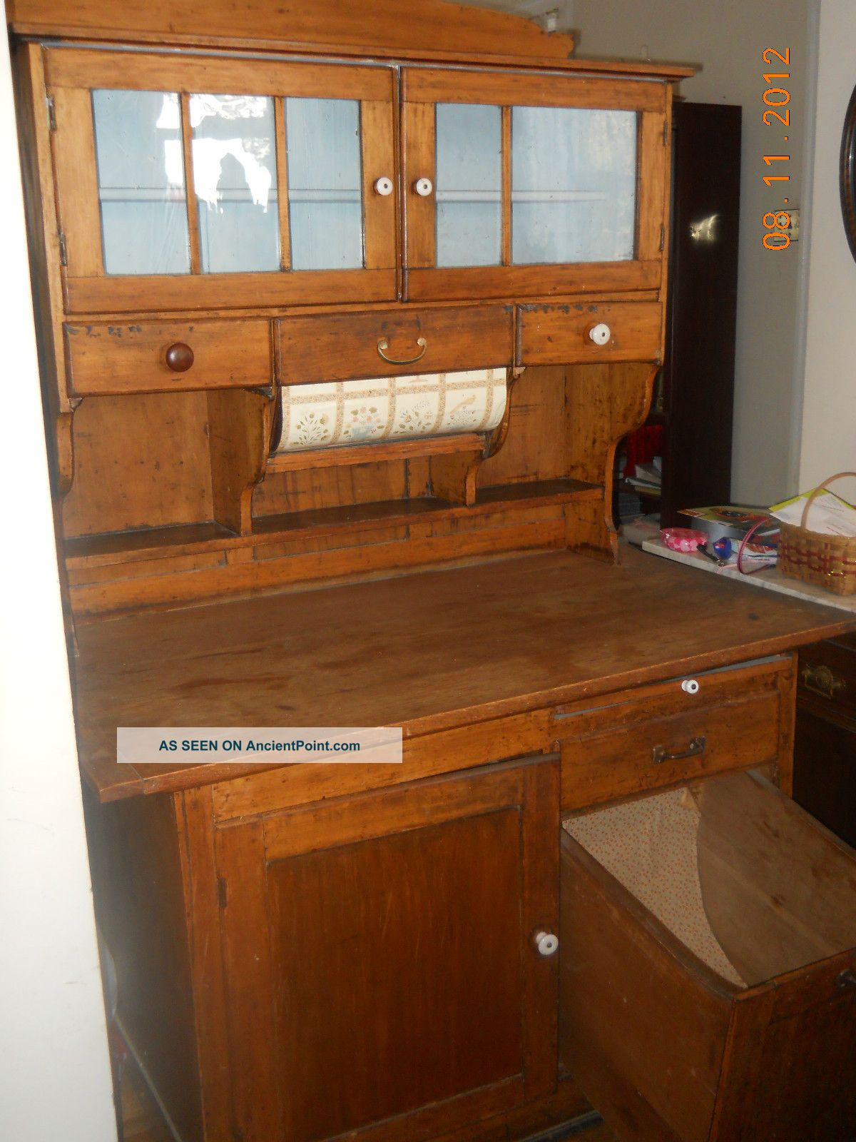 Hoosier cabinet reproduction ask home design for Reproduction kitchen cabinets