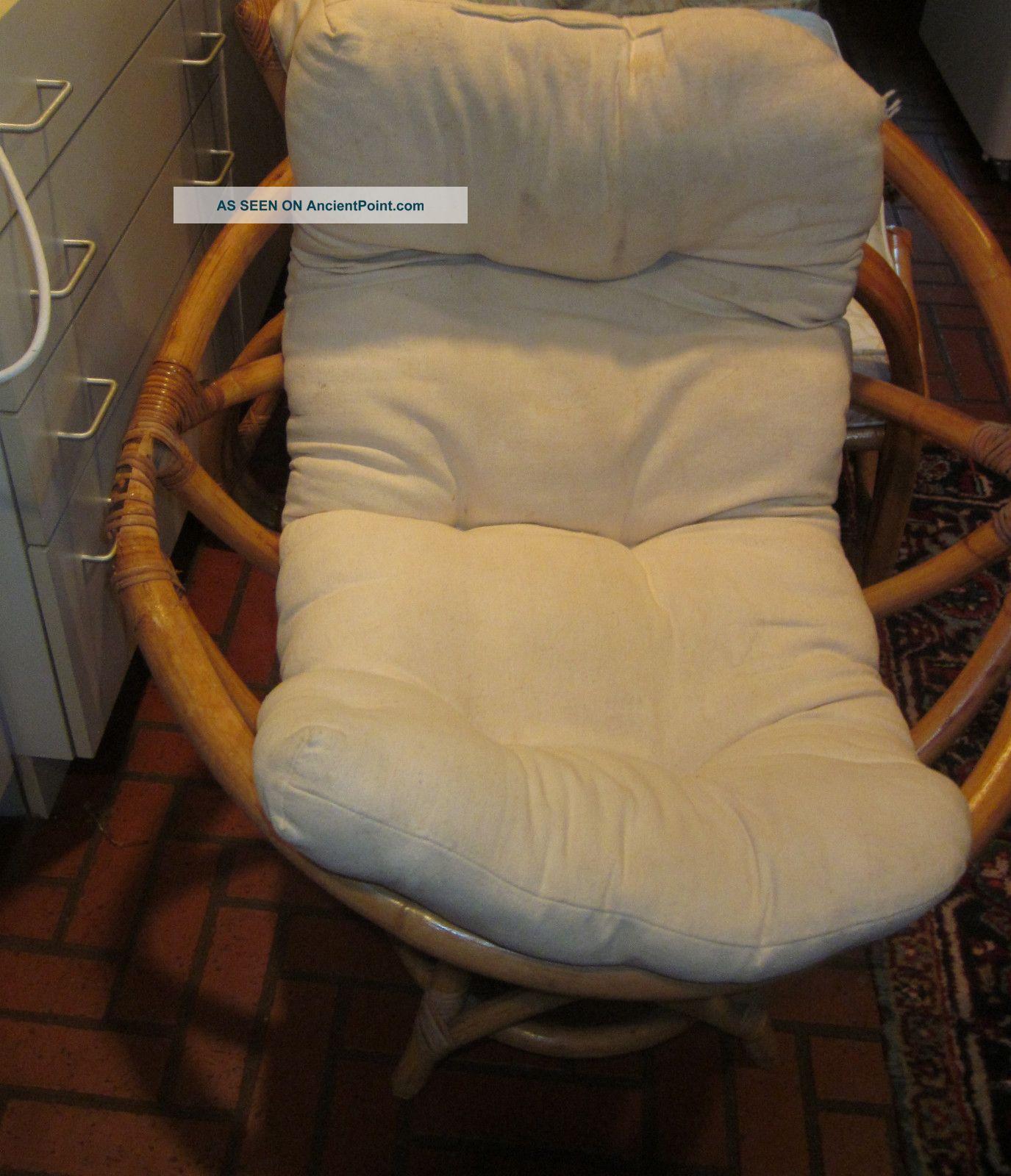 Mid - Century Bamboo Swivel Chair - Hefty Post-1950 photo