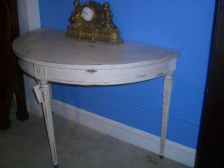 Antique French Hand Painted Consol Table Or Hall Table photo