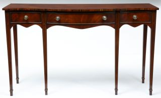 20th Century Mahogany Serpentine Serving Table Sideboard photo