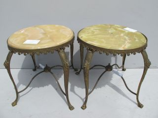 Pair Of French Louis Xv Bronze Side Tables 08486 photo