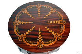 Painted Empire Style Mahogany Round Side Table photo